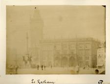 Prague, le Rathaus  Vintage Albumen Print Tirage albuminé  12x17  Circa 18