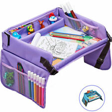 Kids Travel Play Tray for Toddlers Organizer, Activity and Snack Tray Purple New