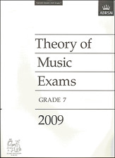 ABRSM Past Theory Of Music Exam Paper 2009 Grade 7 Sheet Music Book