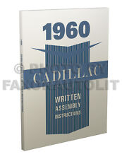 1960 Cadillac Assembly Manual Written Instruction Book for all models Factory