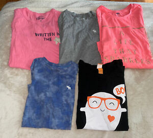 Girls Size 14/16  Shirt Lot (Abercrombie, Crewcuts,  Old Navy & Halloween)