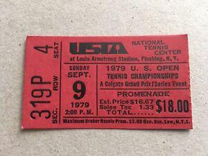1979 U.S. Open Tennis Championships Ticket Stub John McEnroe 1st Grand Slam Win