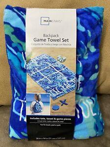 Tic -Tac-Toe Game Backpack Towel Set