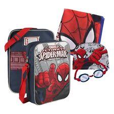 Strand Schwimmbad Set Tasche Handtuch Badekappe Schwimmbrille Spiderman