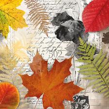 Servietten 20, Serviettentechnik Leaves on Letter Herbst Ambiente 33 x 33
