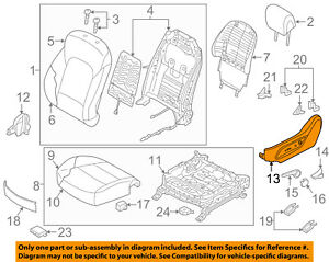 HYUNDAI OEM 13-18 Santa Fe Driver Seat-Outer Cover 88191B8100RYN