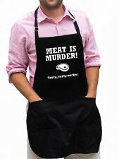 Meat Is Murder Funny Novelty Apron Gift for Dad, Husband, Fathers Day