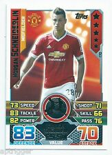2015 / 2016 EPL Match Attax Base Card (170) Morgan SCHNEIDERLIN Manchester U