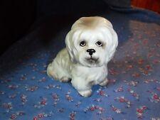 "Vintage  Norcrest Dog Puppy Figure  Possibly Maltese White 3 1/4"" High"