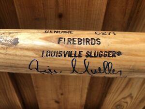 1996 - Bill Mueller Autographed FIREBIRDS baseball Bat -Rookie Year Giants #32