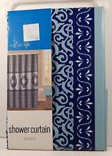 Vinyl Shower Curtain Ida Multi-Color By Duck River Peva
