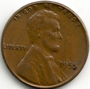 USA - 1955-P - Lincoln Wheat Ears Reverse Cent (1)