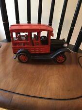 vintage cast iron toy fire trucks