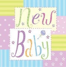 'New Baby' Greeting Card (Handcrafted Design with Free Options)