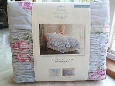 Simply Shabby Chic 2PC Cabbage Rose TWIN Duvet Cover Set (NIB) - Free Shipping