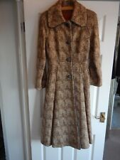 Vintage Mono London Long Heavy Coat Large weave Wool Size 10. Lovely