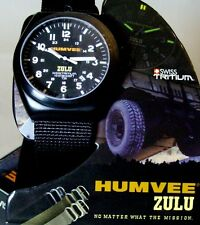 "ZULU watch  Tritium ""Humvee"" w/ Extra bands,  GREAT !   NEW !  last one !!!"