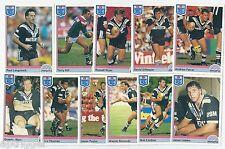1992 Regina NSW Rugby League WESTERN SUBURBS Team Set (11 Cards) ++++