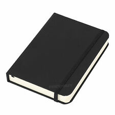 Black A6 Feint Ruled Lined Journal Ivory Colour 192 Page Paper Hard Notebook