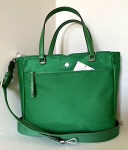 New Kate Spade New York Jae Medium Satchel Nylon handbag Green Bean