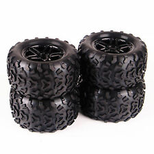 4Pcs Bigfoot Monster Rubber Tire Rims For RC 1:8 E5 E63 TRAXXAS Summit 17mm Hex