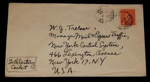 Vintage Cover,CANADA POSTAL HISTORY, 1952,Queensville, ON,King George VI Wilding