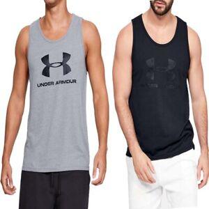 Under Armour Mens Tanks Vests Sportstyle Logo Tank Vest Sleeveless Shirt Size