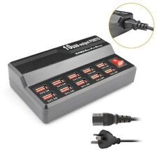 Universal 5V USB Charger 60 Watt 12A Rapid Wall Travel 10 Port HUB Power Adapter