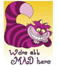 Alice in Wonderland # 10 - 8 x 10 Tee Shirt Iron On Transfer - Cheshire Cat