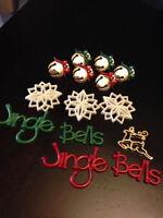 "Dress it Up ""Jingle Bells"" Buttons Christmas"
