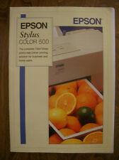 STAMPANTE EPSON STYLUS 500 Scanner GT5000, OPUSCOLO ILLUSTRATIVO E ALTRI INC HP