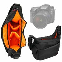 Black & Orange Durable Shoulder Sling Bag for Sony A99 II Camera