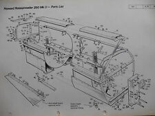 HOWARD ROTASPREADER 250 Mk 2  ILLUSTRATED PATRS LIST 1976 - Cultivator - tractor
