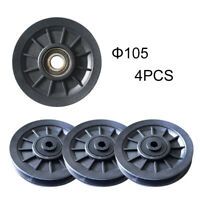 4pcs 105mm Universal Bearing Pulley Wheel Cable Gym Fitness Equipment Parts