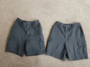 2 Pairs of Boys Grey School Shorts, Age 11, TU