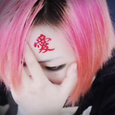 Anime Gaara Cosplay Tattoo Sticker Gaara Of The Sand Love Symbol Red Tattoo