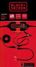 Cargador de Baterias Black and Decker 6-12V Coche Moto Mantenedor mantenimiento
