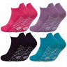 3 Pairs Ladies Sport Gym Yoga Non Slip Gripper Sole Trainer Liner Socks