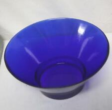 Vintage Cobalt Blue Footed Large Bowl Vase Very Nice