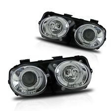 Projector Halo Headlights for 1998-2001 Acura Integra - Chrome/Clear