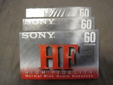 3 Sony HF Normal Bias 60 minute tapes