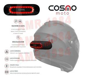 LUCE STOP / POSIZIONE / EMERGENZA UNIVERSALE x CASCO Moto COSMO MOTO CONNECTED