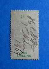 1867 1S NEW ZEALAND STAMP DUTY REVENUE BAREFOOT# 91 USED DIE I PERF 12.5 CS33143