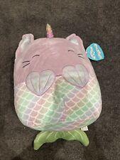 "BNWT 12"" Gracie The Cat Unicorn Mermaid Caticorn Squishmallow"