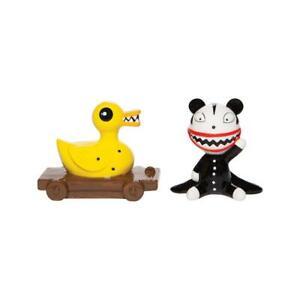 Disney Ceramics SCARY TEDDY KILLER DUCK Nightmare Salt & Pepper Shaker Set