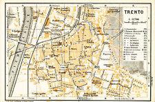 Trento 1928 picc. piantina di città orig. Piedicastello Orfanotrofio Orseline
