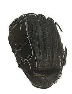 Nike MVP Elite Hyperfuse BSBL Baseball Glove Mitt Left 12.00 Leather Black $450