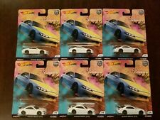 Hot Wheels 2019 Car Culture Street Tuners Nissan Silvia s15 White (Lot of 6) NEW