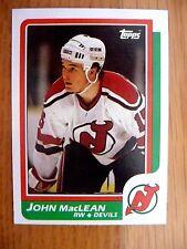 1986-87 TOPPS #37 JOHN MACLEAN RC DEVILS NM