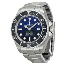 Rolex Deepsea Deep Blue Dial Stainless Steel Rolex Oyster Automatic Mens Watch